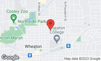 Map of 1001 North Washington Street WHEATON, IL 60187