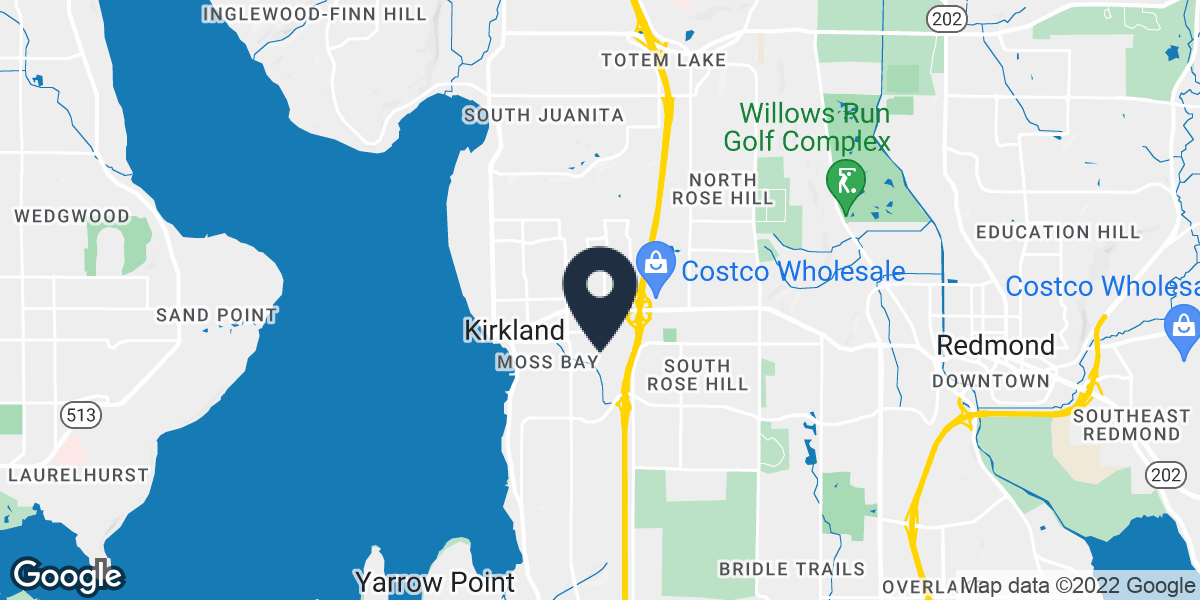 Google Map of 1003 7th Avene Kirkland, WA 98033