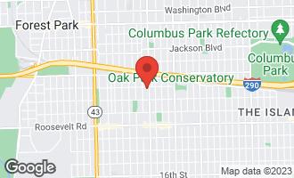 Map of 1003 South Oak Park Avenue #5 OAK PARK, IL 60304