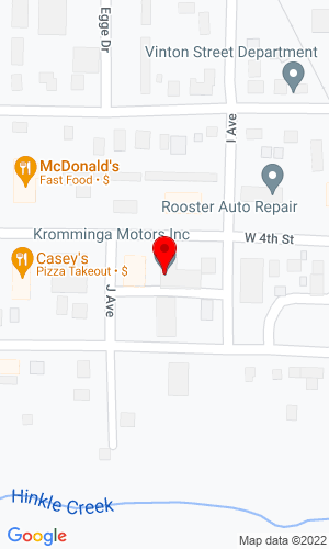 Google Map of Kromminga Motors 1006 4th Street, Vinton, IA, 52349