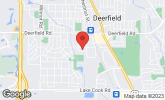 Map of 1006 Brookside Lane DEERFIELD, IL 60015