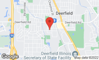 Map of 1006 Central Avenue DEERFIELD, IL 60015