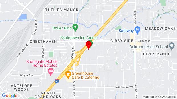 Google Map of 1009 Orlando Ave., Roseville, CA 95661