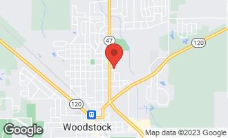 Map of 1009 Greenwood Circle #1009 WOODSTOCK, IL 60098