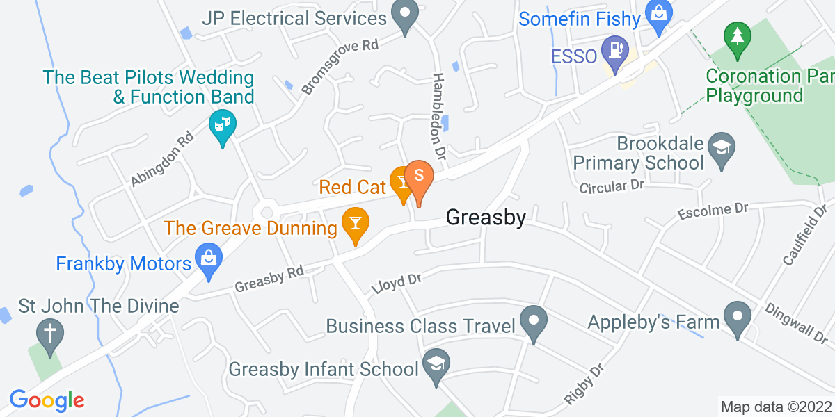 Google Map of 101 Greasby Road Wirrall CH49 9AT