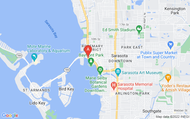 101 S Gulfstream Ave #6E Sarasota Florida 34236 locatior map