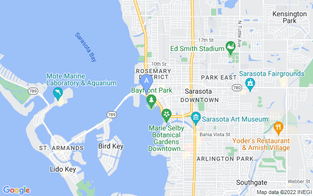 101 S Gulfstream Ave #10D Sarasota Florida 34236 locatior map