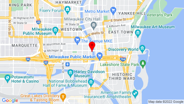 Google Map of 101 W Michigan St, Milwaukee, WI 53202