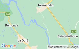 Map of Camping Chute À L'ours Site Touristique