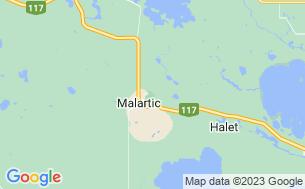 Map of Camping Régional De Malartic