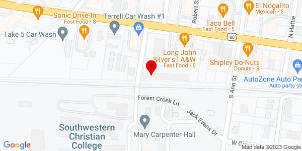 Google Map of 101 Bowser Cir Unit A Terrell, Texas 75160