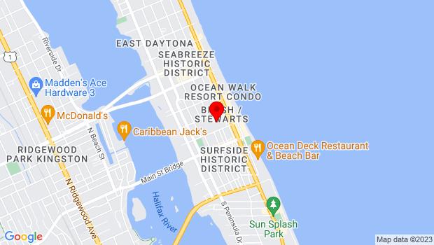 Google Map of 101 North Atlantic Avenue, Daytona Beach, FL 32118