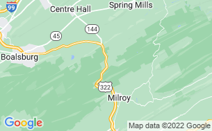 Map of Seven Mountains Campgrounds