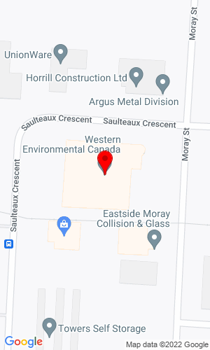 Google Map of Western Environmental Canada 101-251 Saulteaux Crescent, Winnipeg, MB, R3J 3C7