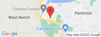 Google Map of 1010+Westminster+Avenue+West%2CPenticton%2CBritish+Columbia+V2A+1L6