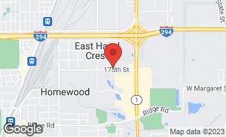Map of 1010 175th Street EAST HAZEL CREST, IL 60429