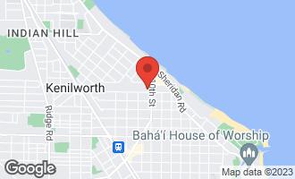 Map of 1010 Chestnut Avenue WILMETTE, IL 60091