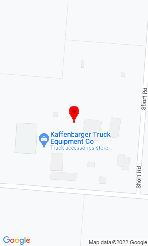 Google Map of Kaffenbarger Truck Equipment  10100 Ballentine Pike, New Carlisle, OH, 45344