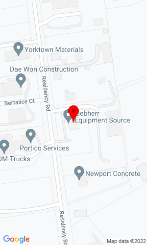 Google Map of Liebherr Equipment Source 10119 Residency Road, Manassas, VA, 20110