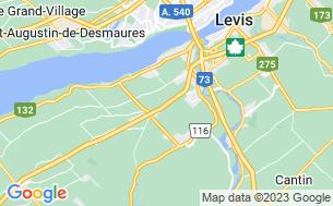 Map of Camping Bernières