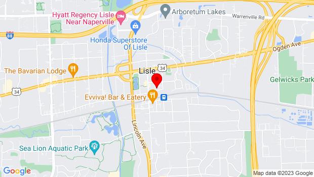 Google Map of 1012 Burlington Avenue, Lisle, IL 60532