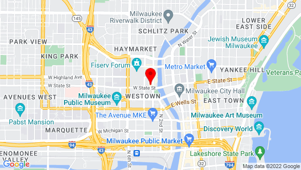 Google Map of 1013 Old World 3rd Street, Milwaukee, WI 53203
