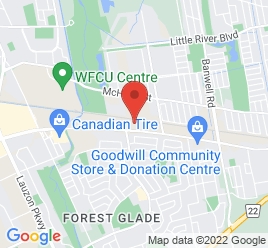 Google Map of 10150+Tecumseh+Road+East%2CWindsor%2COntario+N8R+1A2