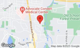 Map of 1016 Michaels Lane LIBERTYVILLE, IL 60048