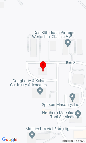 Google Map of Powers Auction & Equipment Sales 1017 Trakk Lane, Woodstock, IL, 60098