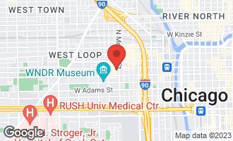Map of 1017 West Washington Boulevard 6F CHICAGO, IL 60607