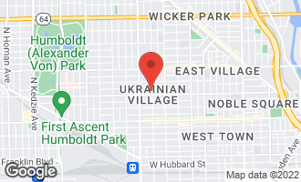 Map of 1018 North Oakley Boulevard CHICAGO, IL 60622