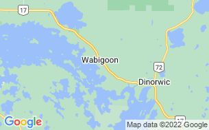 Map of Wabigoon Lake RV Park