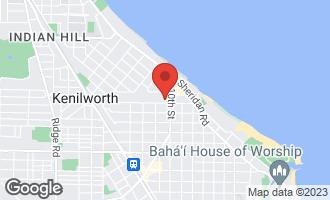 Map of 1020 Chestnut Avenue WILMETTE, IL 60091