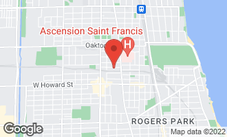 Map of 1020 Harvard Terrace EVANSTON, IL 60202