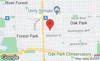Map of 1020 Washington Boulevard 1C OAK PARK, IL 60302