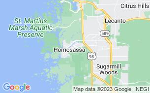 Map of Homosassa River RV Resort