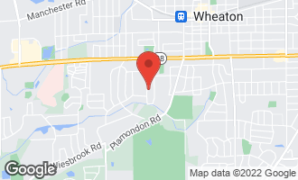 Map of 1021 Greenwood Drive WHEATON, IL 60189