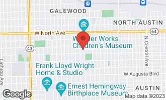 Map of 1021 North Elmwood Avenue OAK PARK, IL 60302
