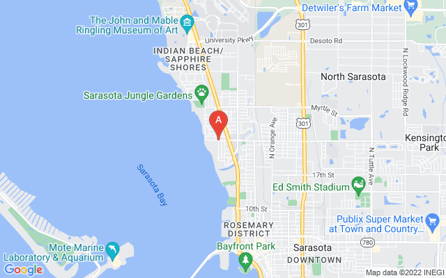 1023 Indian Beach Dr Sarasota Florida 34234 locatior map
