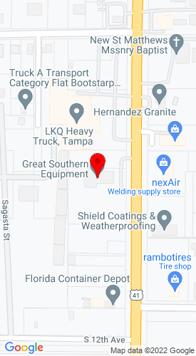 Google Map of Great Southern Equipment Company 1023 S 50th Street, Tampa (HQ), FL, 33619
