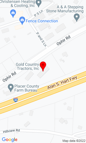 Google Map of Gold Country Kubota 10230 Phir Road, New Castle, CA, 95658