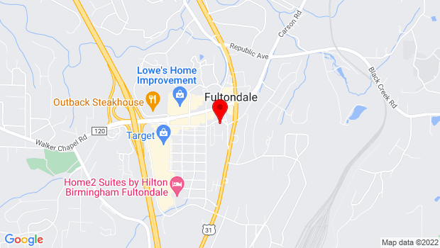 Google Map of 1024 Old Walker Chapel Road, Fultondale, AL 35068