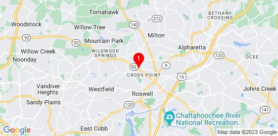 Google Map of 1024 Towneship way Roswell, ga 30075