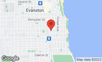 Map of 1024 Hinman Avenue EVANSTON, IL 60202