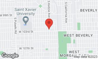 Map of 10244 South Kedzie Avenue EVERGREEN PARK, IL 60805