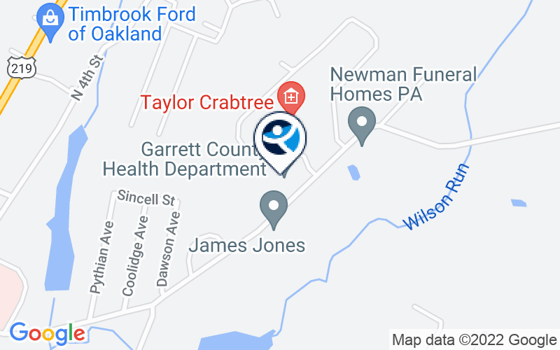 Garrett County Health Department Substance Abuse Disorder Program Location and Directions