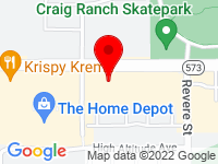 Google Map of 1025 W Craig Road