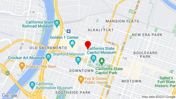 Google Map of 1025 9th Street, Sacramento, CA