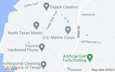 Map of 1027 Woodbridge Pl, Heath, TX 75032