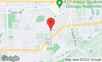 Map of 1027 East Bauer Road NAPERVILLE, IL 60563